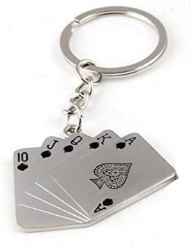 Metallanhänger Spielkarte Poker Schlüsselanhänger Schlüsselanhänger