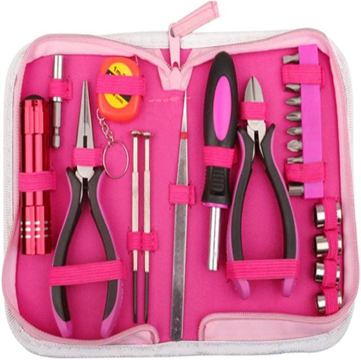 bureau #NSWXGJ 23 pi/èces pour femme avec /étui de rangement en nylon rouge pour bricolage et r/éparation /à domicile Kit doutils pour la maison