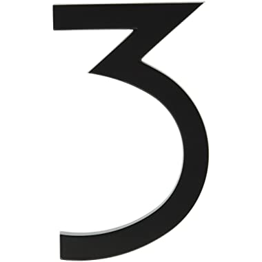 Hy-Ko Products FM-6/3 Floating House Number 3 (THREE) 6  High, Black, 1 Piece