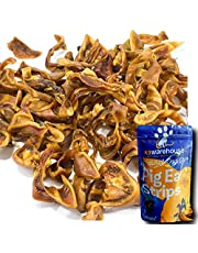 Pig Ears for Dogs | One Pound Pigs Ear Strips (20+) of All Natural Dog Chew Treats | Made of Pure Pork Slivers | Best Alternative to Rawhide Chews | Thick Cut Treat for Small, Medium and Large Dogs