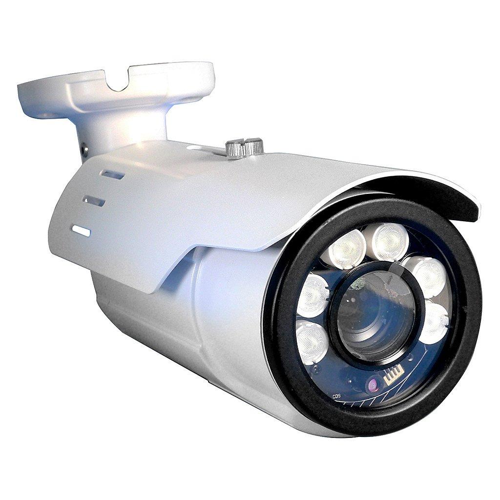 Long Range Motorized VF License Plate 2 Megapixel 2mp 1080p AHD TVI, CVI, Analog Black Bullet Camera w/ 5-50MM Varifocal 10X Optical Lens 16x Digi and 260ft of Infrared and Adjustable Shutter Speed IR