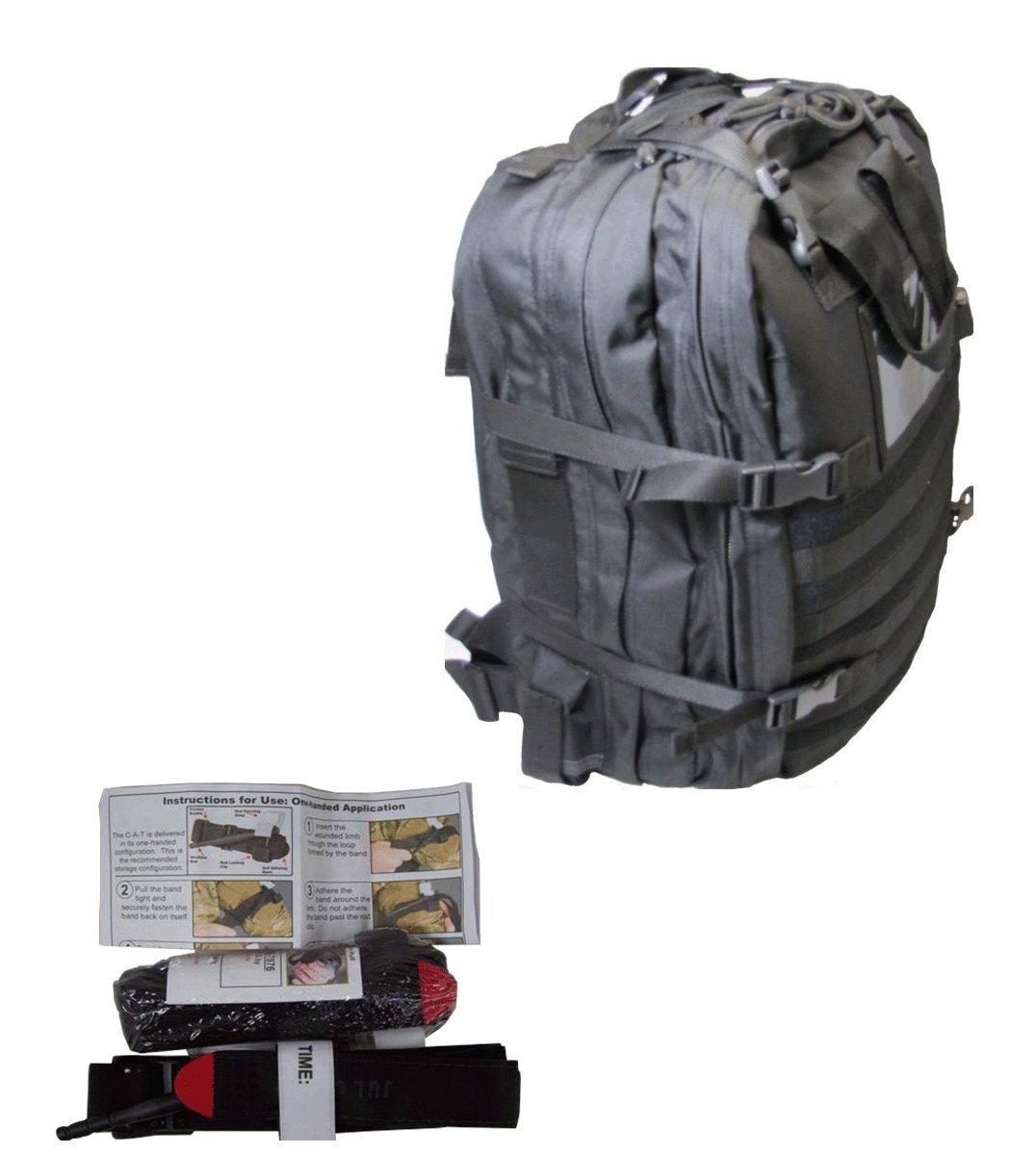 Medical Bags Fully Stocked - Stomp Medical Kit Bag With CAT Tourniquet Bundle-(Black)