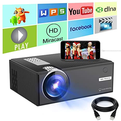 Amazon.com: Mini proyector, proyector de alta definición de ...