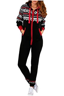 c4ebfa71e Malaika ® Childrens Unisex AZTEC PRINT Hooded Zip Up Onesie Jumpsuit Kids  Girls Boys Fleece All In…