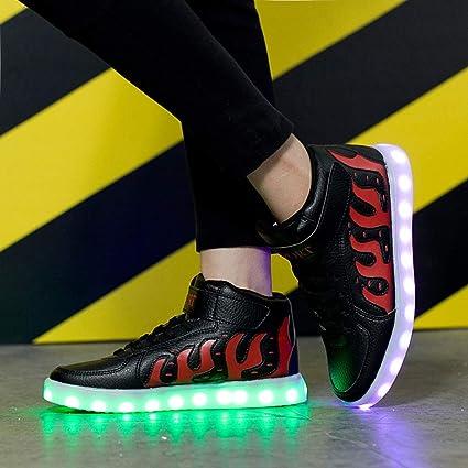 reputable site ad117 d8270 Pengye Zapatos Que Brillan intensamente Zapatillas de Baile Fantasma Carga  LED Luces de Colores Zapatillas de