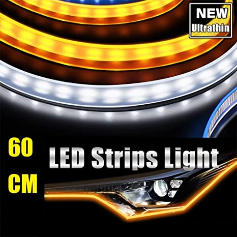 Think, led flex strip around headlight