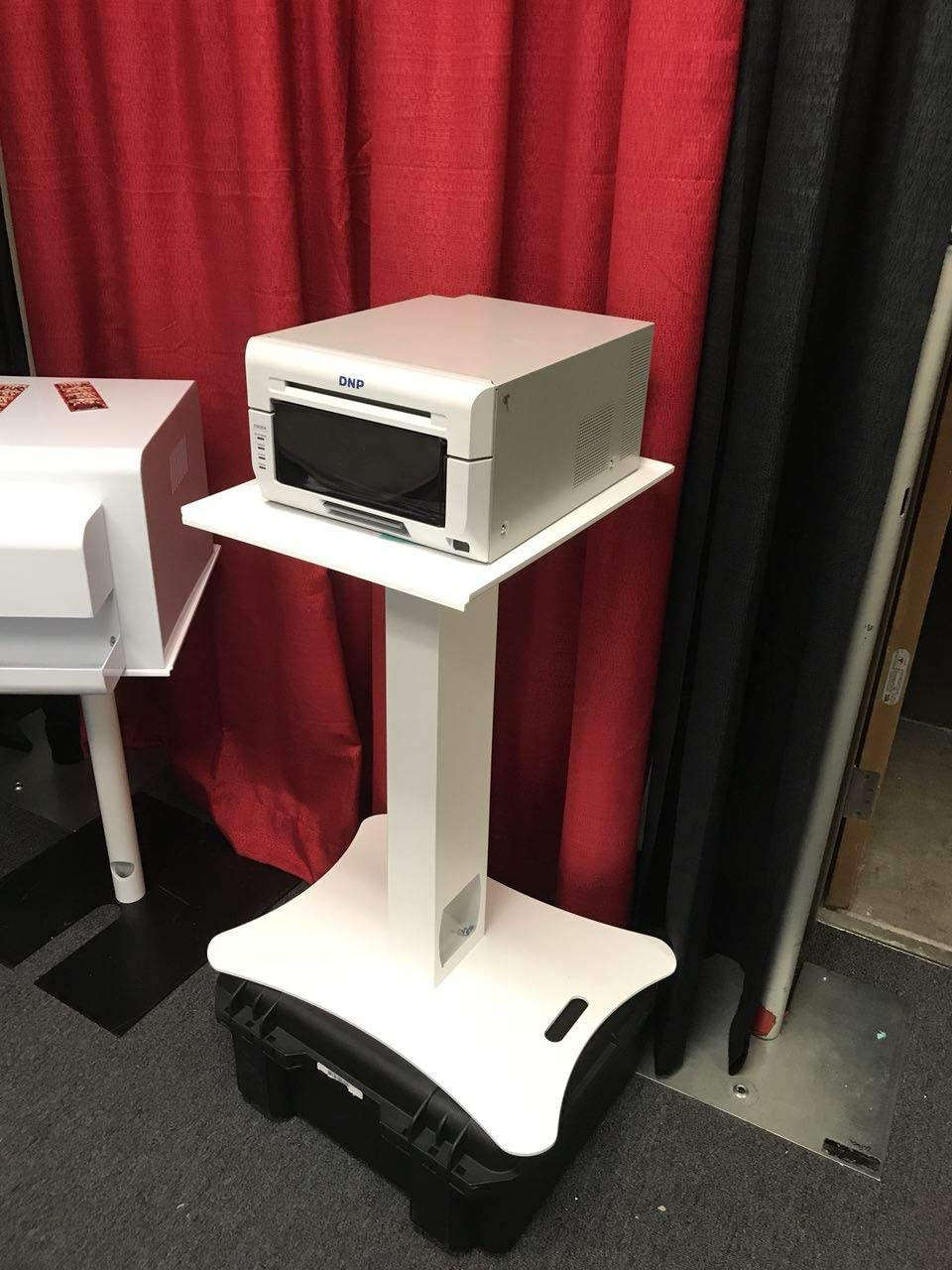 Event Specialty Store Printer Stand Aircraft-Grade Aluminum Proudly Made in The USA │ Perfectly Matches Your Photo Booth │ Built for Maximum Portability and Durability White