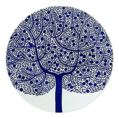 Royal Doulton Fable Garland Blue Tree Accent Plate, 9 , White