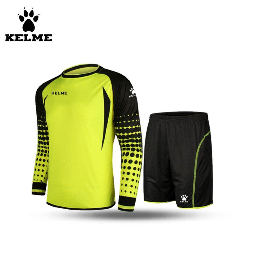 サッカーゴールキーパー長袖スーツサッカージャージーセット B01E87FNEI Small|イエロー/ブラック イエロー/ブラック Small