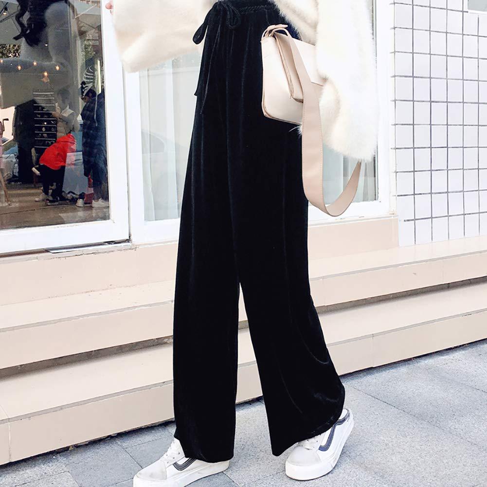 Pants & Capris Gold Velvet High Waist Wide Leg Pants Women For Spring Autumn Women's Clothing
