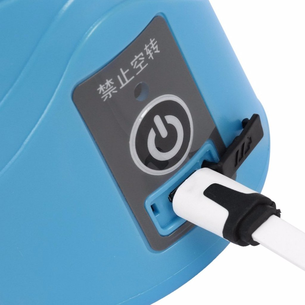 Homyl Camping USB wiederaufladbar elektrische Saftpresse Saft Mixer - Grün 3S