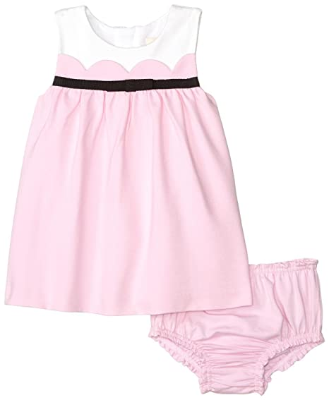 d0d665bda Kate Spade New York Girls' Scallop Dress Set, Cherry Blossom 12 Months
