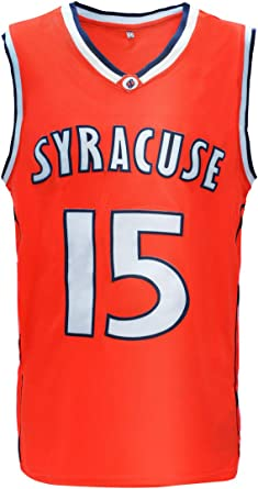 Amazon Com Nuker Mens Basketball Jersey Syracuse University 15 Retro Embroidered Clothing