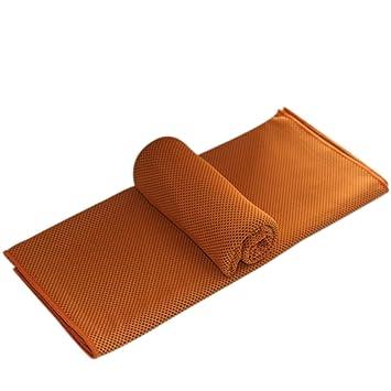 vicoki enfriamiento deportes toalla Super absorbente toallas de verano frío para fitness running para correr Yoga ciclismo 39 * 300 mm, naranja, ...