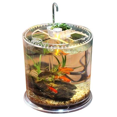 YAHAMA pescado Acuario LED luces en forma de columna tablero Acuario pequeña tortuga Forro Box