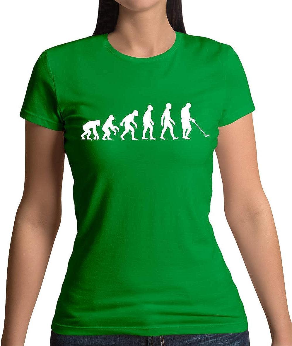 Dressdown Evolution of Man Detector DE Metales - Camiseta para Dama - 11 Colores - Irlandés Verde, (16 / 2XL): Amazon.es: Ropa y accesorios