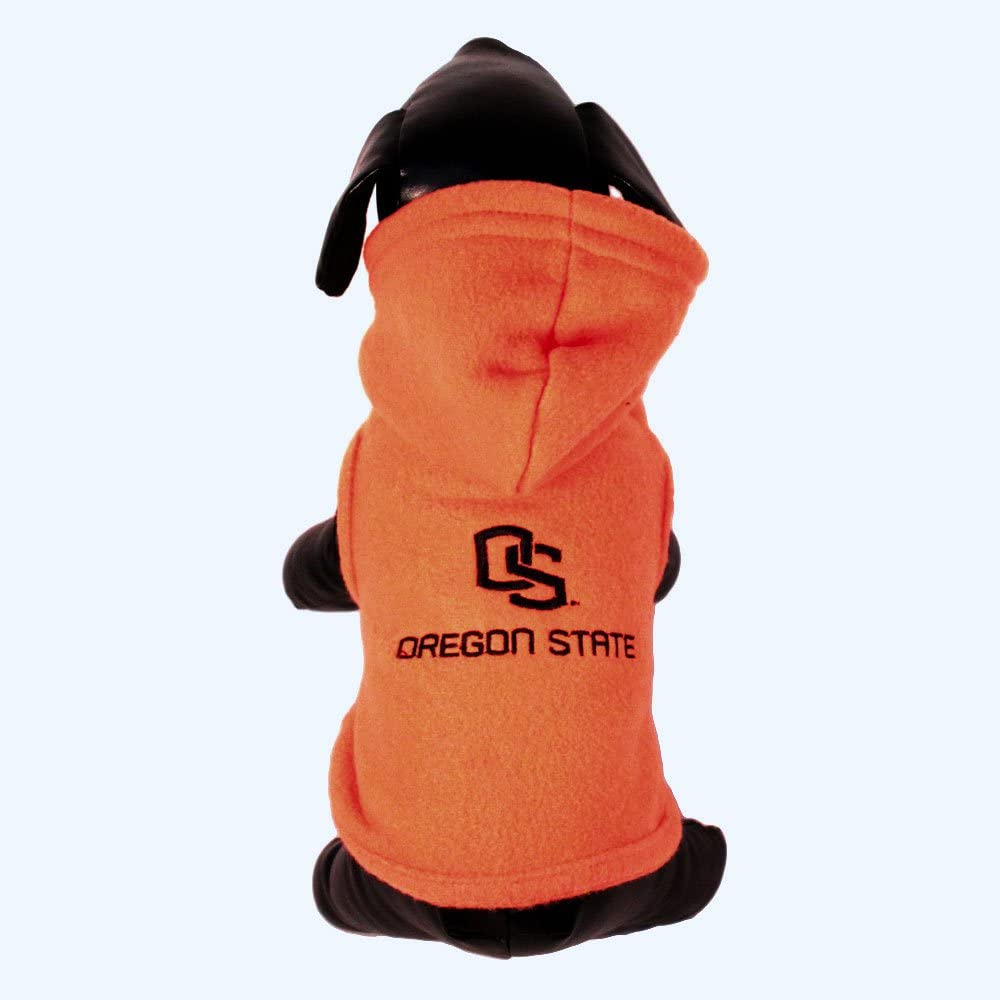 NCAA Oregon State Beavers Polar Fleece犬スウェットシャツ、Tiny