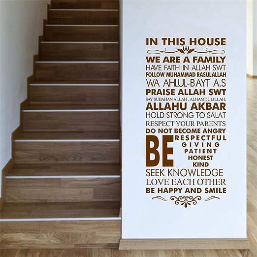 pegatinas de pared tortugas ninja Reglas de la casa islámica ...