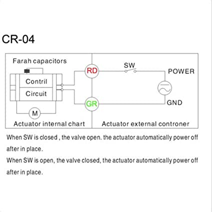 BACOENG 1//2 DN15 V/álvula Motorizada de Esfera de 3 V/ías de Lat/ón de AC//DC9-24V CR04 NC