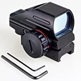 Tuofeng holographique Rouge et Green Dot Sight tactique Reflex 4 Different Reticles réticule Picatinny Rail pour Shotgun Fusil Pistol