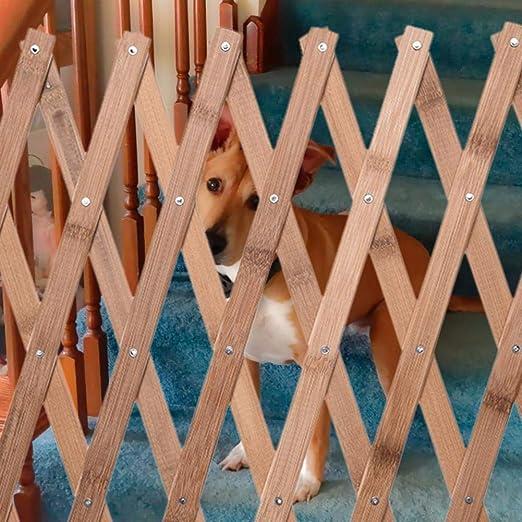 Mississ Valla para Mascotas, Puerta De Aislamiento para Mascotas, Valla De Madera Portátil, Puerta Corredera Retráctil para Perros, Puerta De Entrada, Escaleras, Cocina Stylish: Amazon.es: Hogar