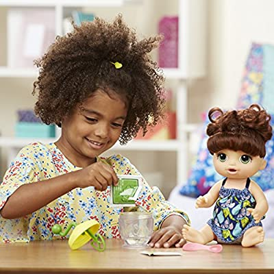 Baby Alive Sweet Spoonfuls Baby Doll Girl (Brunette): Toys & Games