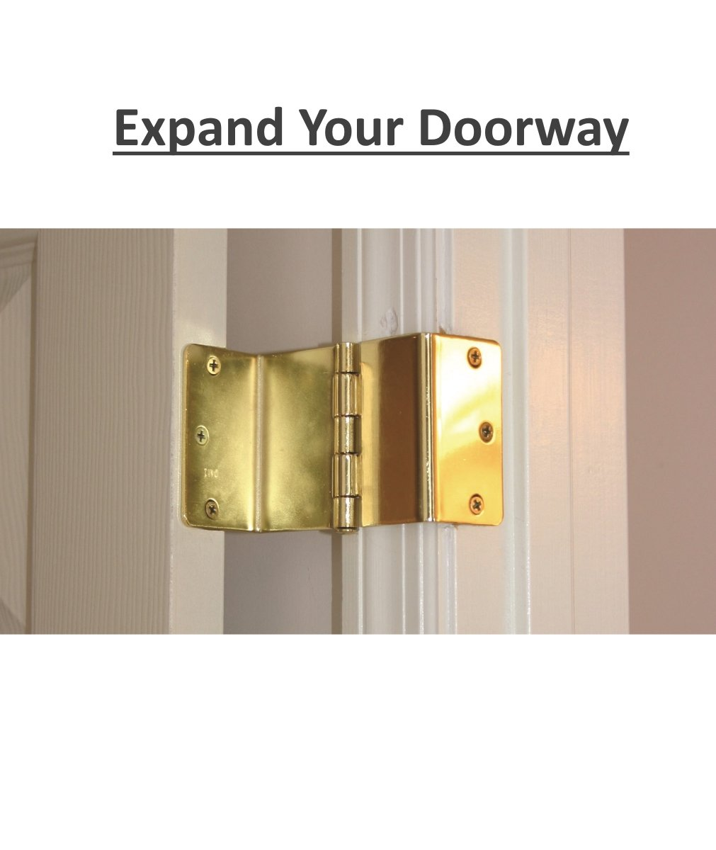 Handicap Brass Expandable Door Hinges - 2 Hinges by MARS Wellness (Image #4)
