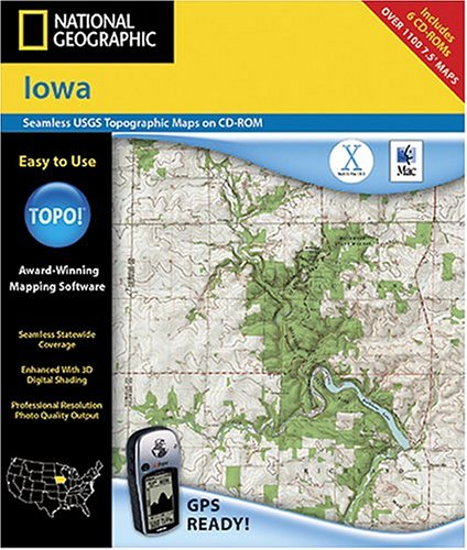 National Geographic TOPO! Iowa Map CD-ROM (Mac)