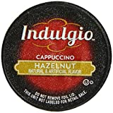 Indulgio Hazelnut Cappuccino Single Serve for Keurig K-Cup Brewers, 6.35 oz, 12 Count (Pack of 6) (Compatible with 2.0 Keurig Brewers)