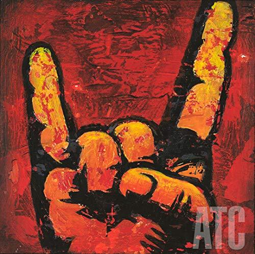 ArtToCanvas 24W x 24H inches : Rock n Roll 6 by Aaron Christensen - Canvas