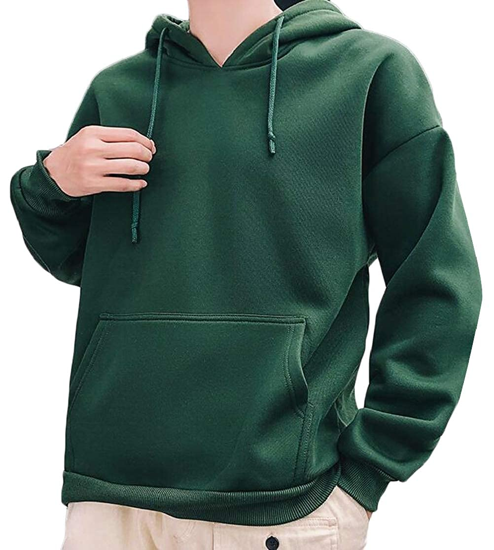 Joe Wenko Mens Modern Hooded Drawstring Pullover Pockets Sweatshirts Jacket