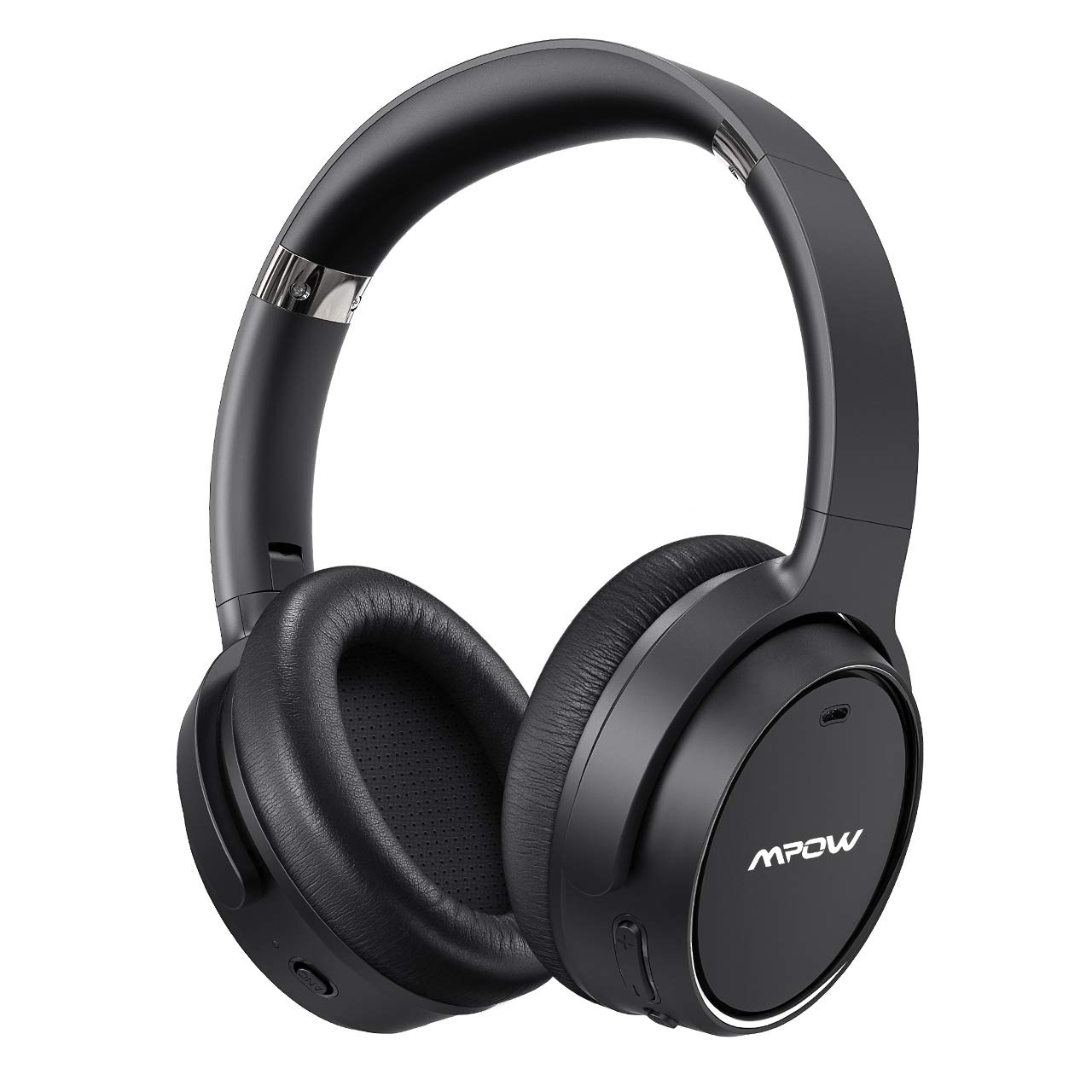Mpow H19 Hybrid Noise Cancelling Headphones, [Upgraded] Bluetooth 5.0 Over Ear Wireless Headphones with 30H Playtime, Deep Bass, CVC 6.0 Microphone, ANC Headphones for Travel Work