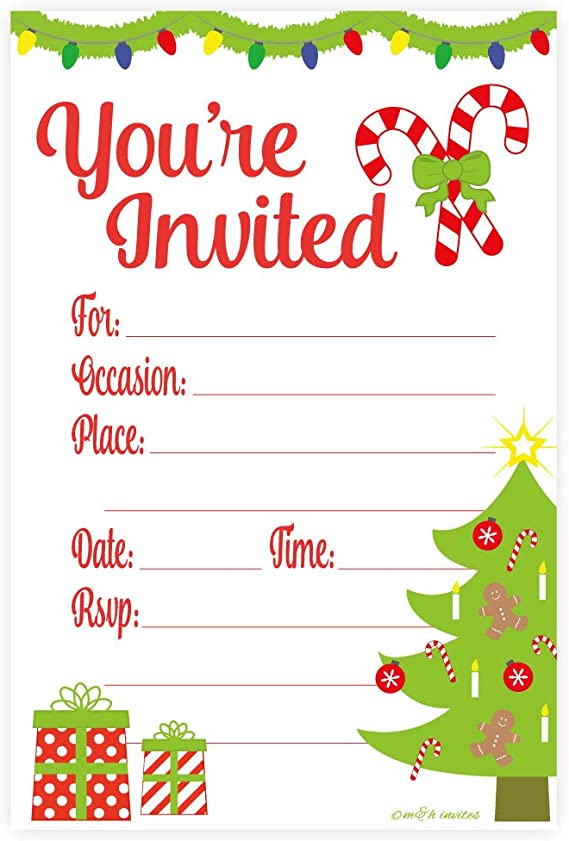 Christmas Party Invite Christmas Dinner Holiday Party Invitation Printed Invitations or Digital Red and Gold Christmas Bash Celebration