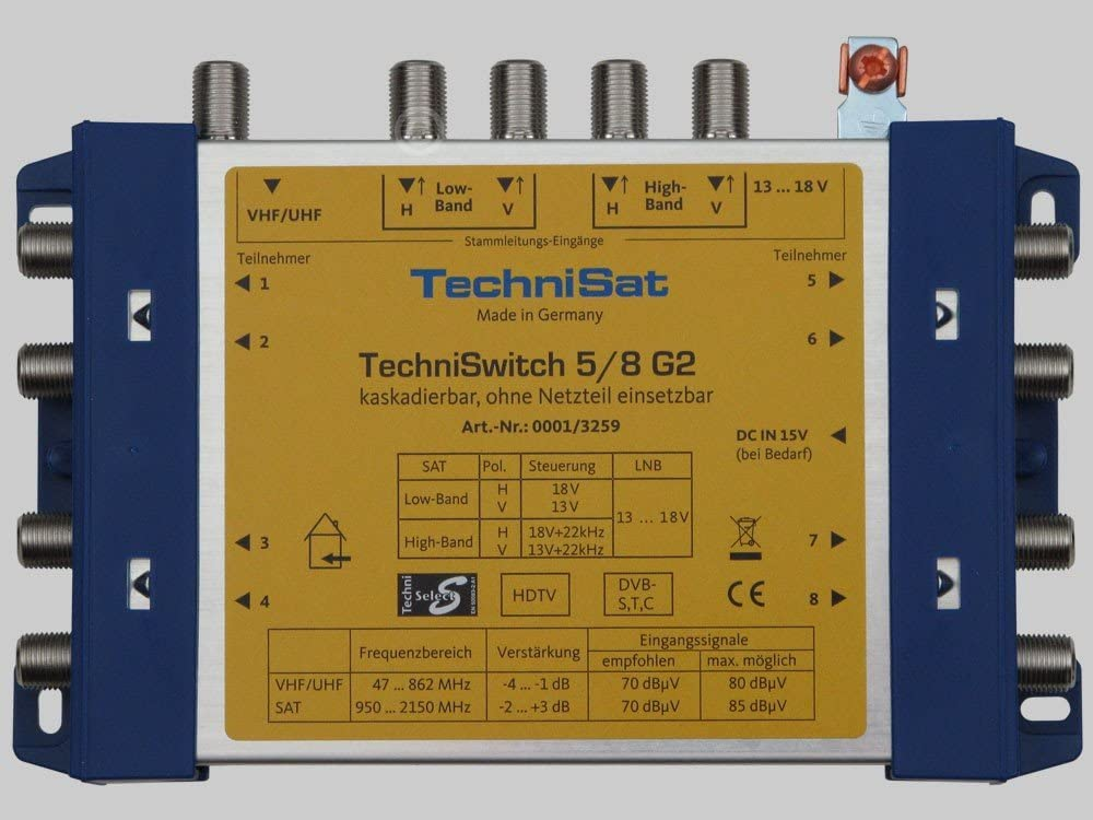 Technisat Techniswitch 5 8 G Multischalter Elektronik