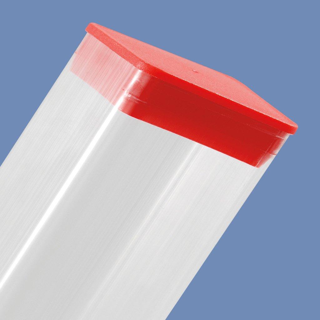 PRCP.438X.75RED 7/16'' X 3/4'' Rectangular Poly Plug Red - MOCAP (qty 5000)