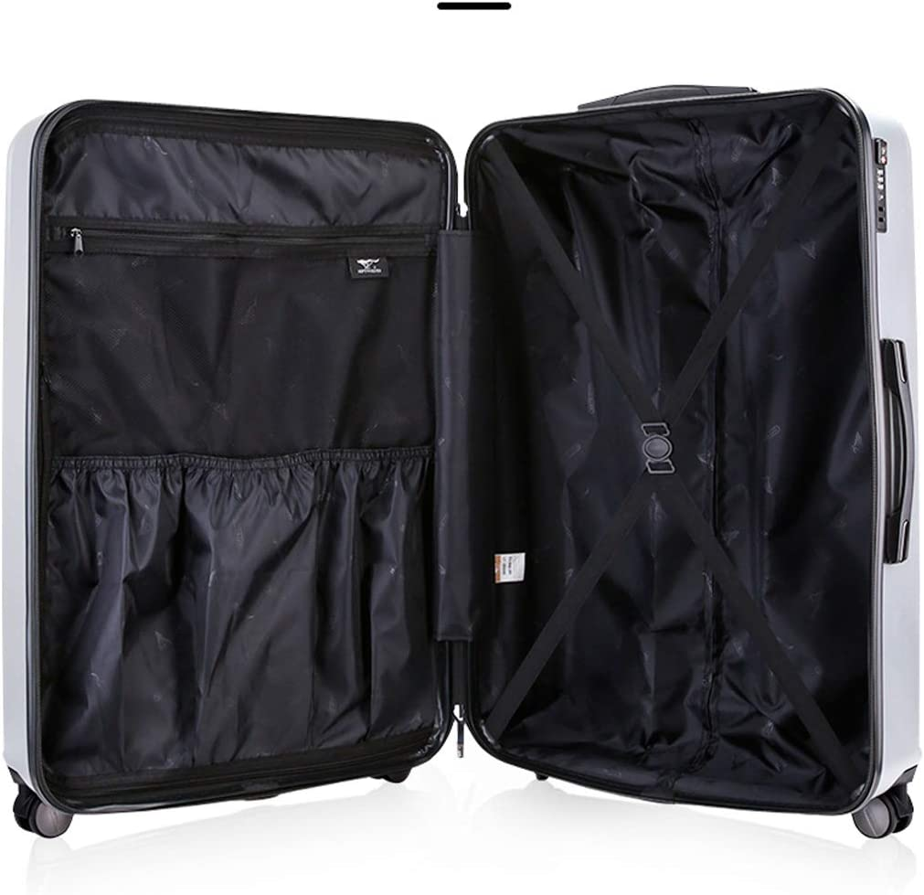 Spinner Suitcase Simple Style Shengshihuizhong Carry On Luggage Simple and Color : Blue, Size : 20 Hard Case Silver Latest Style 20//24//28