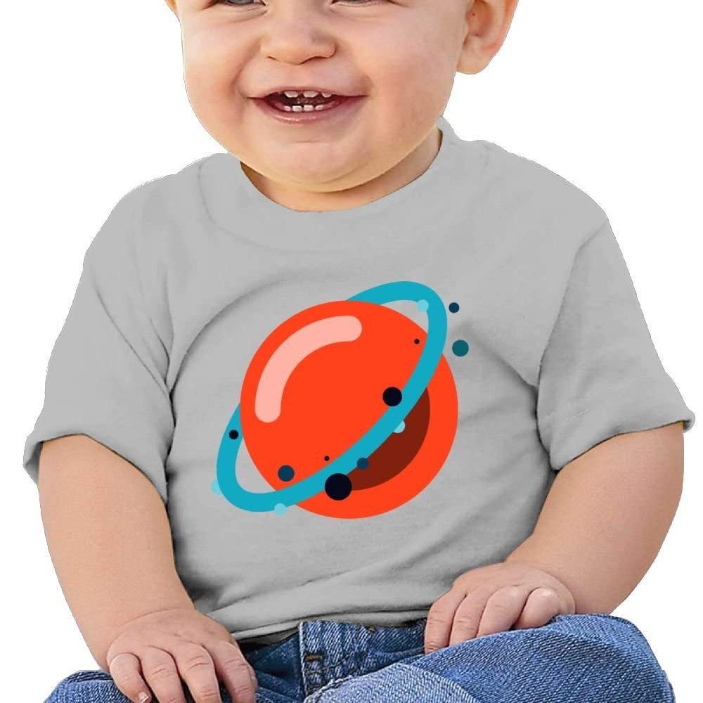 Moniery Cute Short-Sleeve Shirts Red Planets System Birthday Day Baby Boy Kids