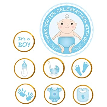 Amazon.com: 322-pack Baby Shower – Pegatinas gracias para ...