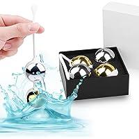 ANTRY Boule de Geisha Deluxe Métal boules geisha Couvert par Premium Medical Silicone - Kegel Balls Utiliser Pour Exercices de Plancher Pelvien pour Rééducation et Musculation de Périnée
