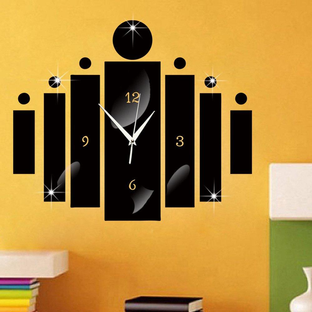 Amazon.com: ChezMax DIY Wall Hanging Clock Decal Murals 3D\