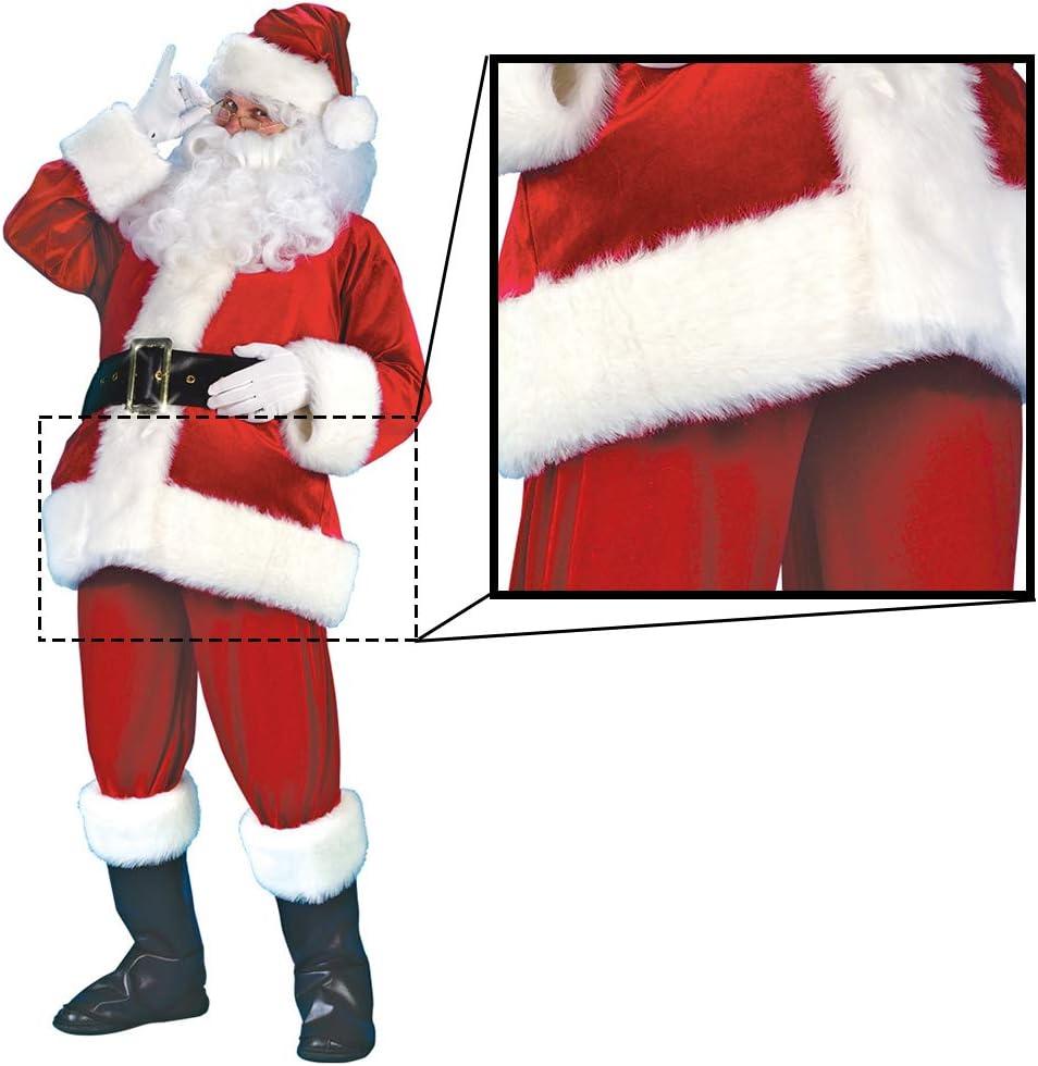 housesweet Traje de Papá Noel de Felpa Disfraz de Papá Noel ...