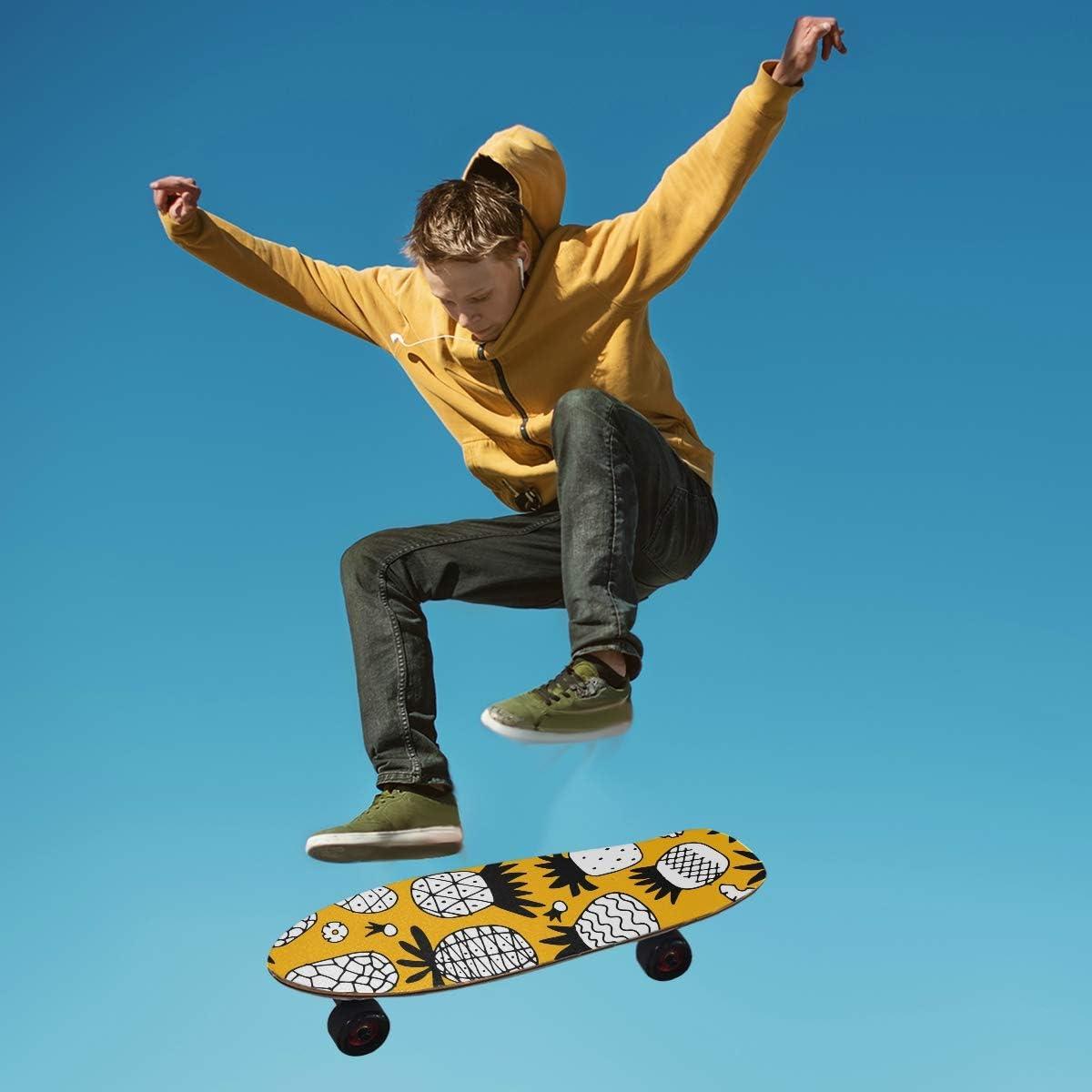 MNSRUU Skateboard Griptape Ananas-Set Blatt Scooter Deck Sandpapier 22,9 x 83,8 cm