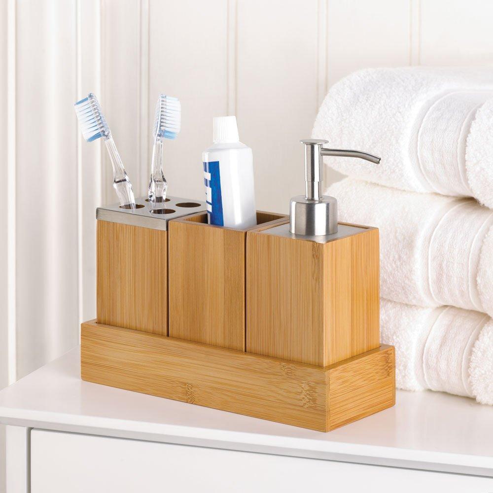 Amazon.com: Kyoto Bath Set Trio Soap Pump Caddy: Home & Kitchen