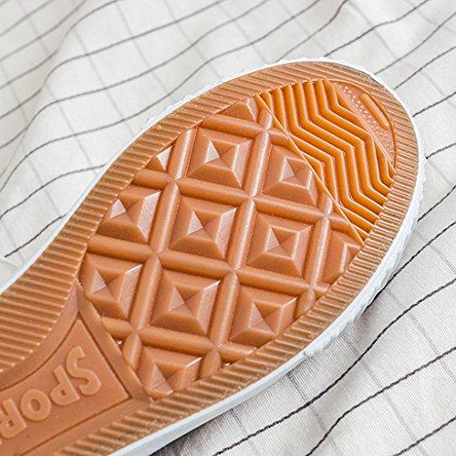 da selvaggia scarpe basse femminile Harajuku da 38 coreano stile ginnastica scarpe Scarpe Pink stile moda Green studenti tela di Color uomo di Espadrillas Scarpe Size YaNanHome Zaq8x5wz5