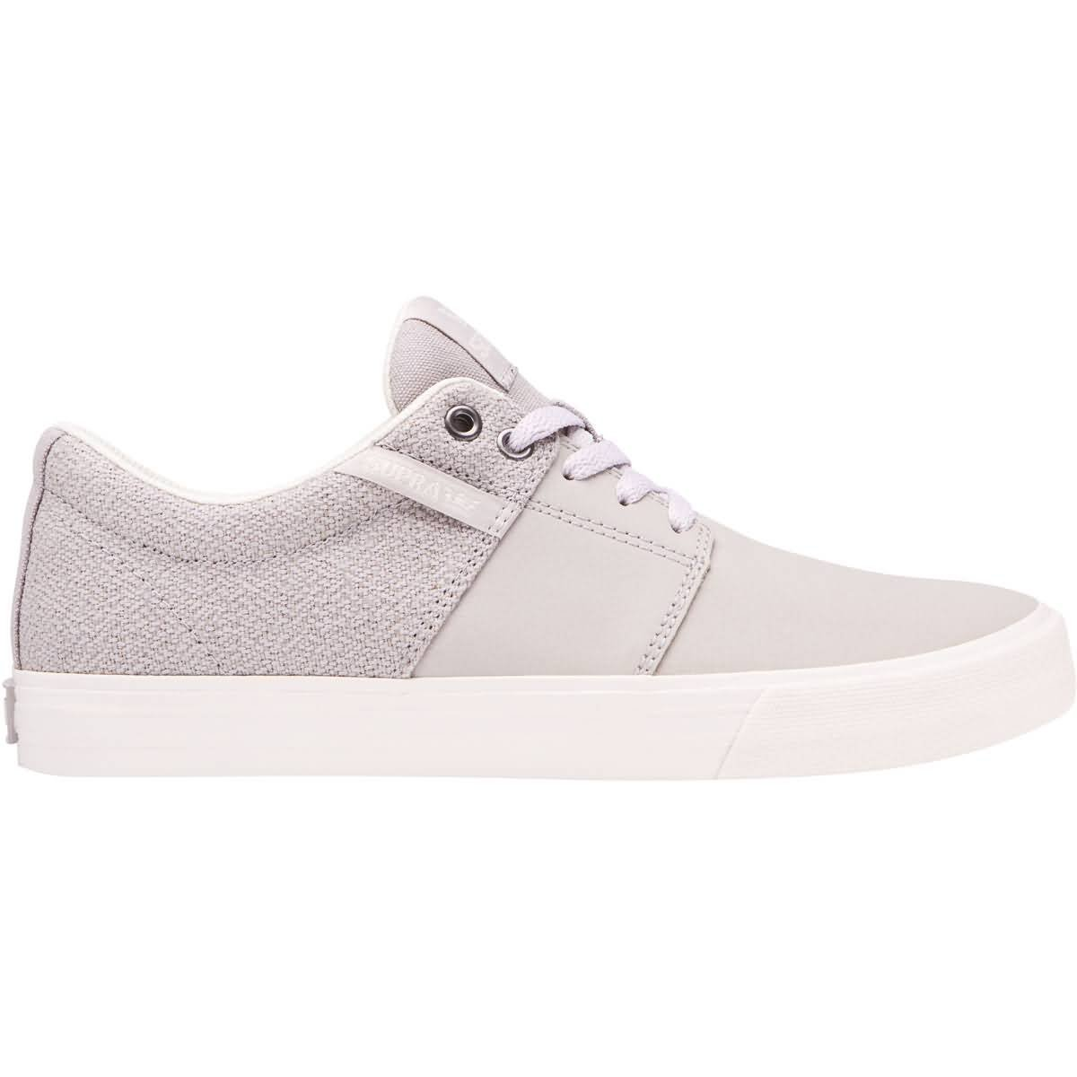 d5a912229a Galleon - Supra Men's Stacks II Vulc Shoes,11.5,Silver Cloud-Bone
