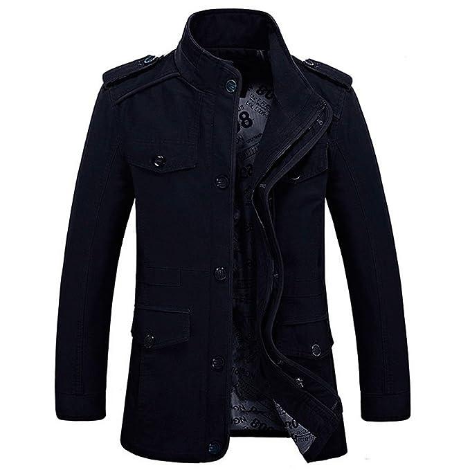 78d79aa528 HDH, giacca militare da uomo, aeronautica, a maniche lunghe, modello  aderente,