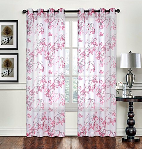 Cherry Blossom Window Curtains Amazon Com