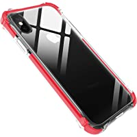 Effenx 6.5'' Clear Soft TPU Thin iPhone Xs Max Case (Red)