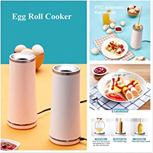 fine_fine Egg Roll Cooker with Auto Shut Off - Egg Maker Dash Rapid Egg Cooker - Omelet Breakfast Maker Cup - Multifunction Eggs Sausage Boiler Omelet Hotdog Maker Machine for Breakfast (Pink)
