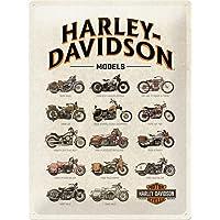 Nostalgic-Art Harley-Davidson - Model Chart - Gift idea for motorcycle fansRetro Tin SignMetal PlaqueVintage design for…